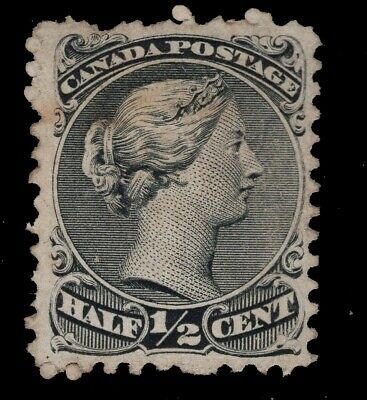 CANADA  used  #21a,iv,vi  11.50 X 12P   with a THIN   LARGE QUEEN 1868