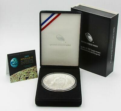 Apollo 11 50th Anniversary 2019 Five Ounce Proof Silver Dollar - 19CH