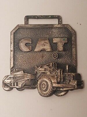 Vintage Cat Watch Fob Perkins Machinery Co. Inc. Antique Collectible Caterpillar