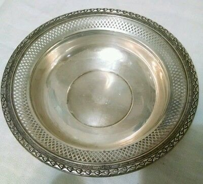 """VTG Fisher weighted sterling bowl compote lace-like rim 6-3/8"""" diameter #101"""