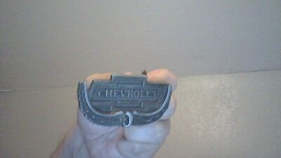 Vintage Chevrolet Bowtie Belt Buckle Metal Angel Wings