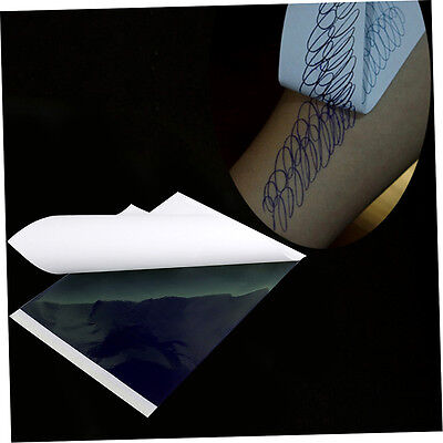100pcs A4 Tattoo Thermal Stencil Transfer Carbon Paper ZY003 White + Green K&