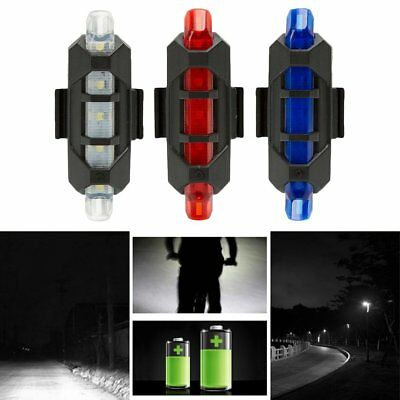 Bicycle LED Signal Light Warning Light Flashlight Rear Tail Light USB Charge P