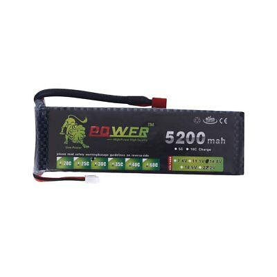 A+ Lion 14.8V 4S 5200mah 30C Lipo Battery Power for RC Helicopter Plane Car MR