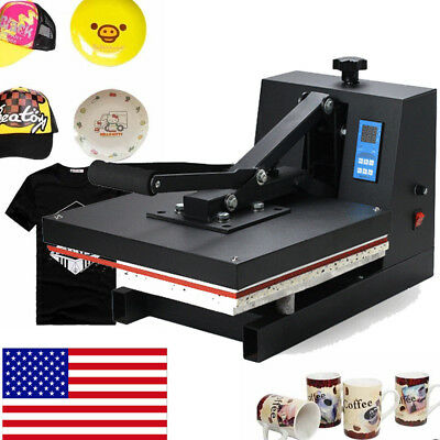 "US 2018 Digital 15""X15""CLAMSHELL HEAT PRESS T-SHIRT TRANSFER SUBLIMATION MACHINE"