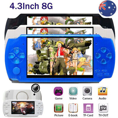8GB Portable 4.3'' PSP Handheld Game Console 100 Free Games Built-In Camera AU