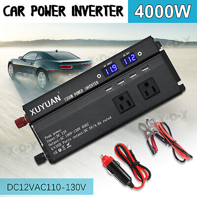 3000/4000/5000W Solar Power Inverter DC12V to AC110V Car Sine Converter Charger