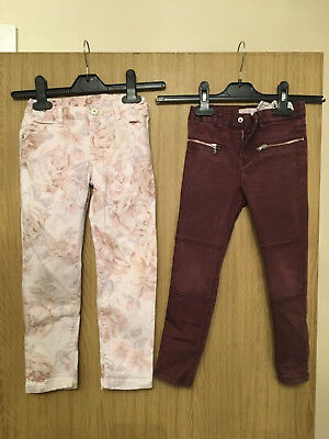 Two Pairs Of Zara Girls Jeans - Age 5 Years