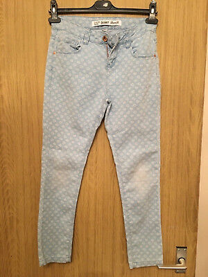 Denim Co Girls Heart Patterned Skinny Jeans - Age 11-12 Years