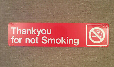"""Vintage """"Thank You For Not Smoking"""" Sign Sticker"""