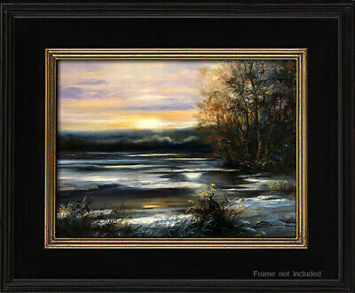 Original Abstract Landscape Oil Painting Impressionism Art Signed By Theriault