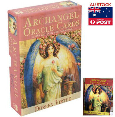 45 Cards Archangel Oracle Cards By Doreen Virtue Combined Pack English AU