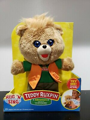 NEW Teddy Ruxpin Adventure Hug 'N Sing Plush with Sound