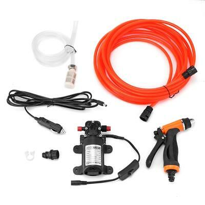 Portable 100W 130PSI High Pressure Car Electric Washer Wash Pump System Kit 12V
