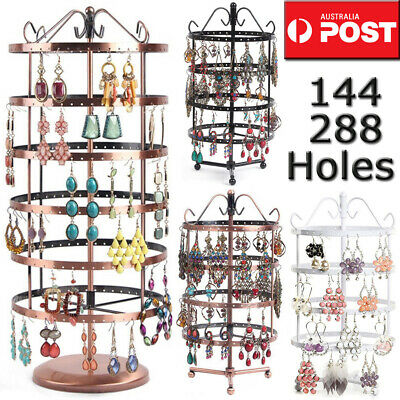288 Holes Earring Jewelry Necklace Display Rack Metal Stand Holder Organizer OZ