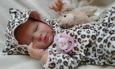QUEEN'S CRIB OOAK  REBORN BABY GIRL/BOY  DOLL PRINCESS ANA !fully rooted head !!