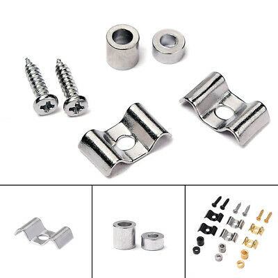 1 Pairs Silver Roller String Guides Retainer Tree For Strat Tele Guitar Parts