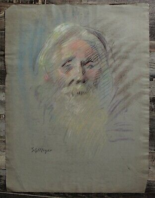 Canadian Stanley Gordon Moyer (1887-1968) Pastel Drawing - Bearded Man - Signed