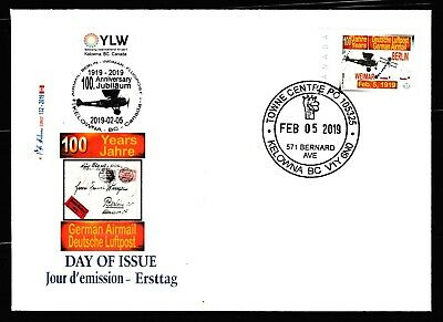 German Air Mail - 100 Anniv - CDN Picture Postage FDC