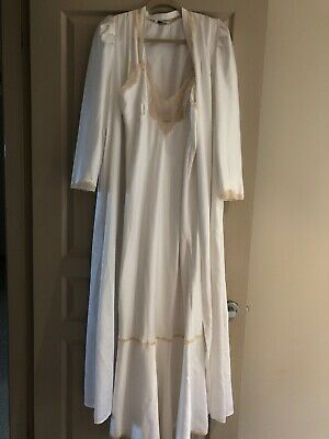 Vintage Chloe Nightie Nightgown And Dressing Gown Size 12
