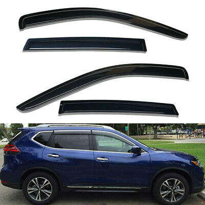 Window Visor Sun Rain Guards For 2014-2019 Nissan Rogue Vent Shade Deflector 4PC