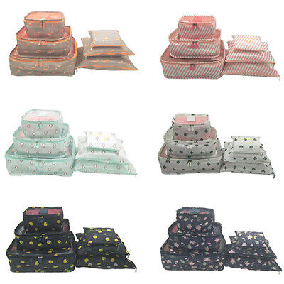 6 Waterproof Packing Cube Compression Clothes Storage Bag Travel Insert Case Set