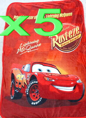 5pc Wholesale Bulk Lots Kids Fur Fleece Blanket Disney Cars Polar Throw Soft