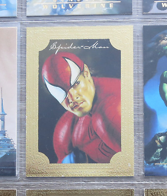 Fleer Marvel Masterpieces 1996 Spider-Man Gold Foil Special insert card Rare