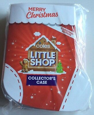 CASE / FOLDER - Coles Little Shop - Xmas Edition - Mini Collectable - NEW Sealed