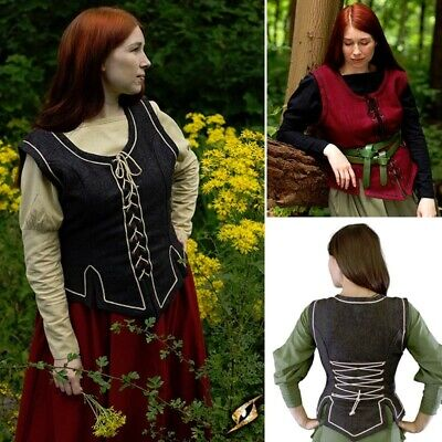 Ladies Vest with Contrasting Lacing and Trim, Costume and Re-enactment or LARP
