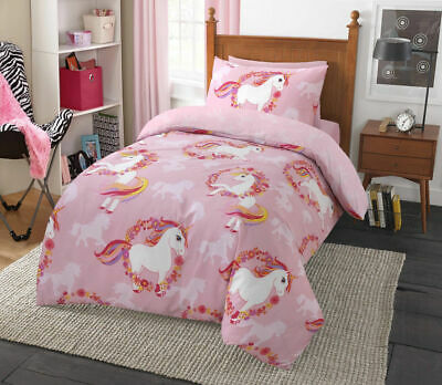 Pretty Unicorn Luxurious Duvet Covers Quilt Cover and Bedding Sets Single Pink