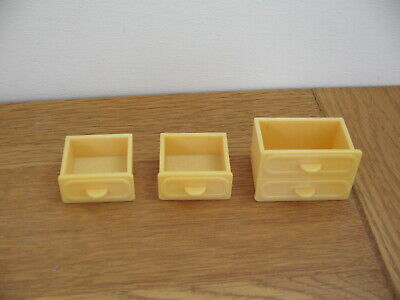 Sylvanian Families Campervan Spares / Replacement kitchen drawers full set