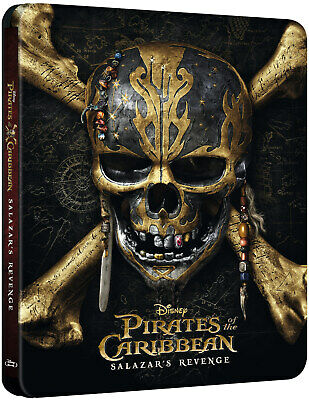 Pirates of the Caribbean: Salazar's Revenge - Steelbook - Zavvi Bluray 3D - NEW