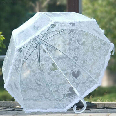 Lace Umbrella Arch Shaped Transparent Dome Frilly Wedding Decoration Parasols##