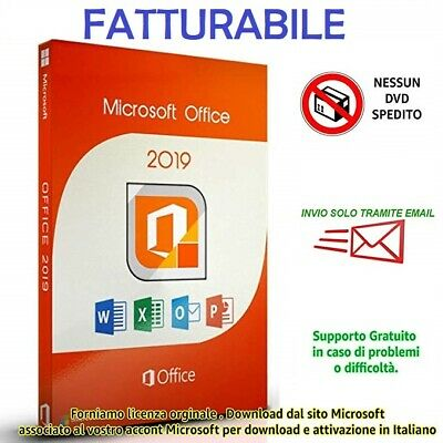 Microsoft Office 2019 Professional Plus Pro 32/64 bit - Fatturabile - Originale