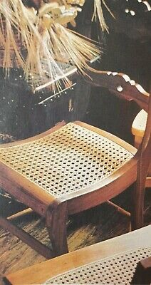 Weaving Cane Chair Seating Pattern  Raffia Macrame Reproduced