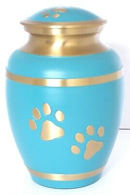 Pet Ashes Urn Dog Cat Cremation Urn Funeral Memorial Urn Turquoise Urn REDUCED