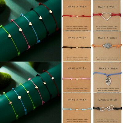 Trendy Women Make a wish Bracelet Rope String Lucky Bracelet Hot Sale Party Gift