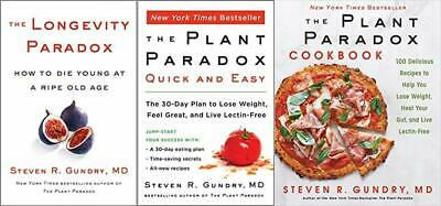 All 3 PDF Longevity Paradox, The Plant Paradox & The Cookbook by Steven R Gundry