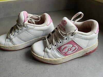 Heelys Youth Shoes Trainers Sneakers Girls Glitter Pink White Size UK 13 EU 32.5