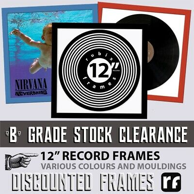 "Home, Furniture & DIY Rubix BLACK 7"" Inch vinyl Record Frame Collecter B GRADE STOCK FREE DELIVERY"