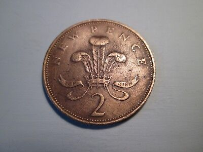 UK 2p Coin - 2 NEW PENCE - 1971