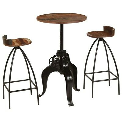 Admirable Vintage Round Bar Table 2 Chairs Kitchen Industrial Bistro Pabps2019 Chair Design Images Pabps2019Com