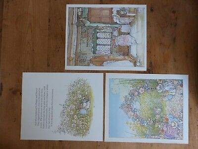 Retro Brambly Hedge Book Plates/ Illustration Print - Summer Story Pictures x3