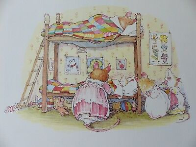 Brambly Hedge Book Plates - Retro Illustration Print - Winter Story Picture