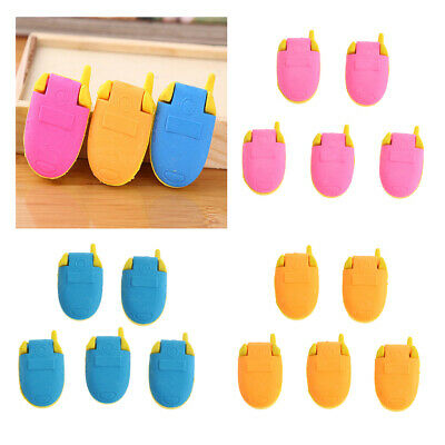5pcs Cute Mobile Phone Pattern Pencil Eraser Cartoon Stationery for Students