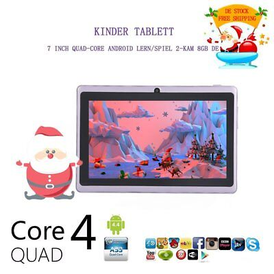7 Zoll Tablet PC Android Kinder Tablette Quad core Dual Kamera 512MB+8GB lilam H