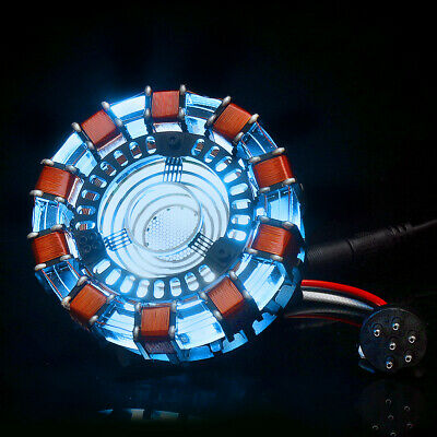 1:1 ARC REACTOR DIY Model Lamp MK 1 LED USB Chest Light Movie Props Kit Cosplay