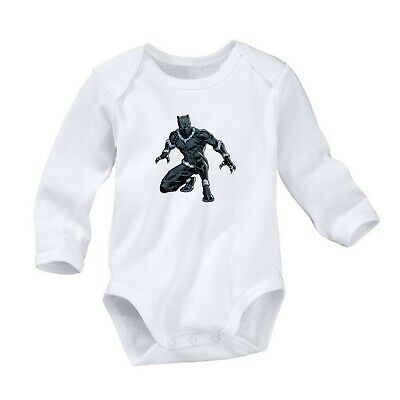 Black Panther Romper Cute Newborn Baby 0-24 Months Girl Boy Long Sleeve 829