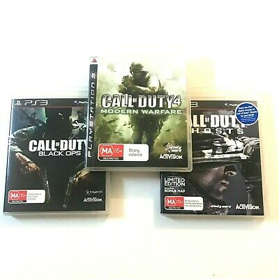 Call of Duty 3 Game Bundle (Sony Playstation 3, PS3) COD Black Ops, Ghosts, MW4